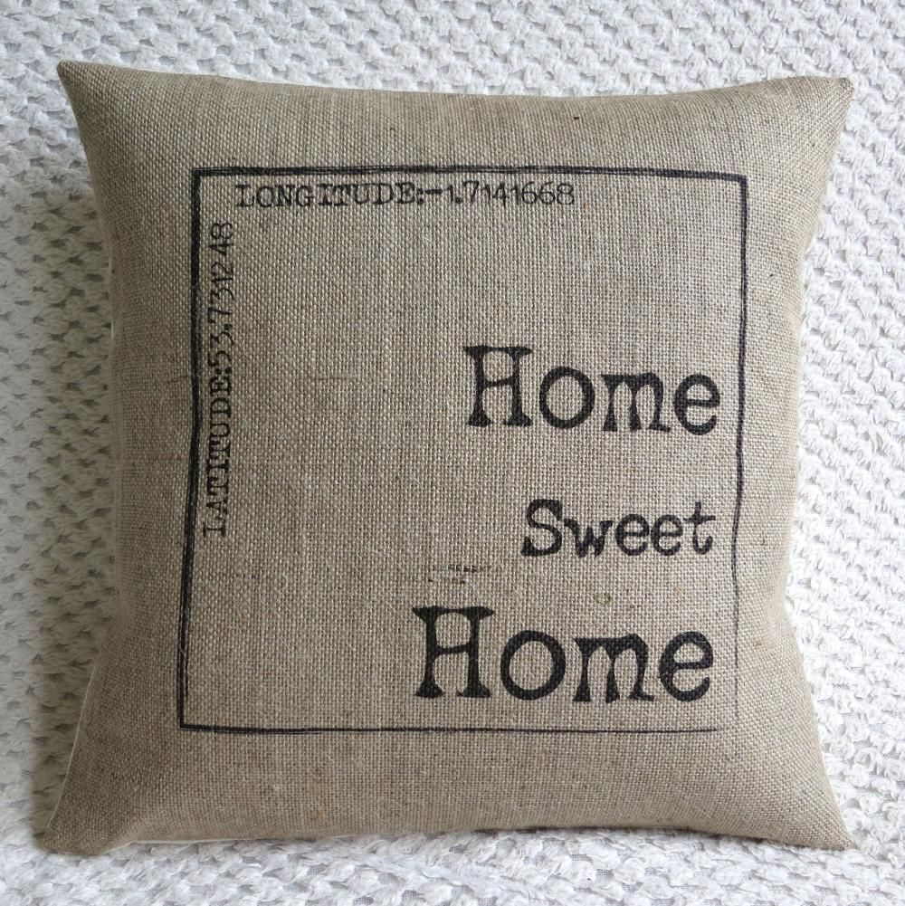 personalized home sweet home burlap best burlap pillows