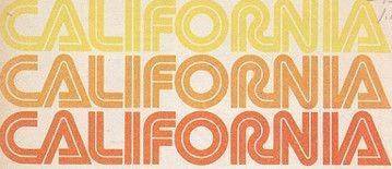 Retro 70s California Font Typeface in Orange & Yellow | 70s