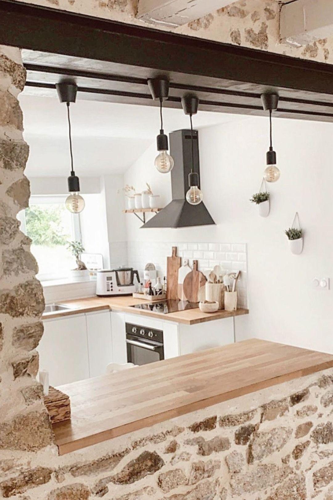40+ Scandinave cuisine blanche et bois ideas in 2021
