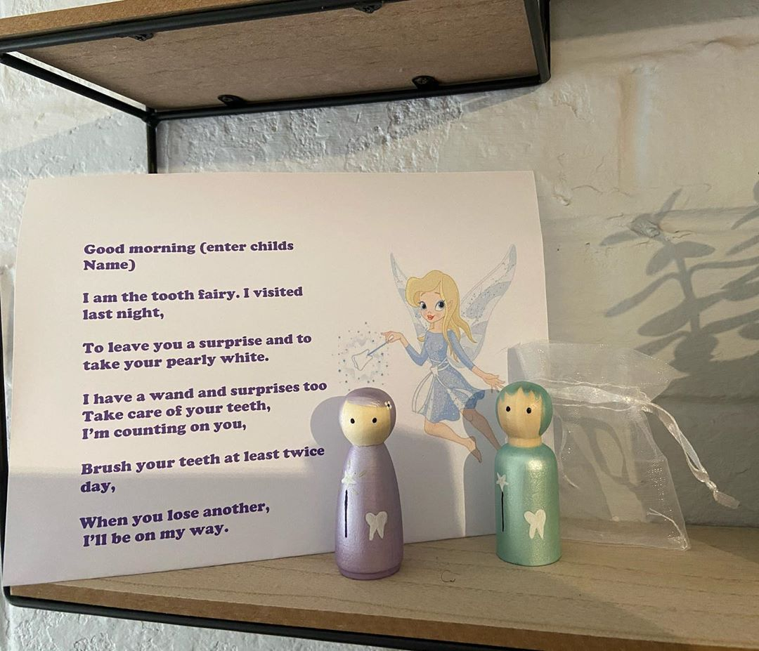 Our beautiful tooth fairy's 🧚♀️ Suitable for boys, girls or gender neutral  Colours can be changed upon request  These are hand painted with non toxic paints and sealants.  Each doll arrives in a draw string bag and a personalised poem  One doll is £5 plus P&P  Free delivery in the Tamworth area.  #toothfairy #toothfairyiscomingtonight #fairy #love #magical #toddler #children #shimmer