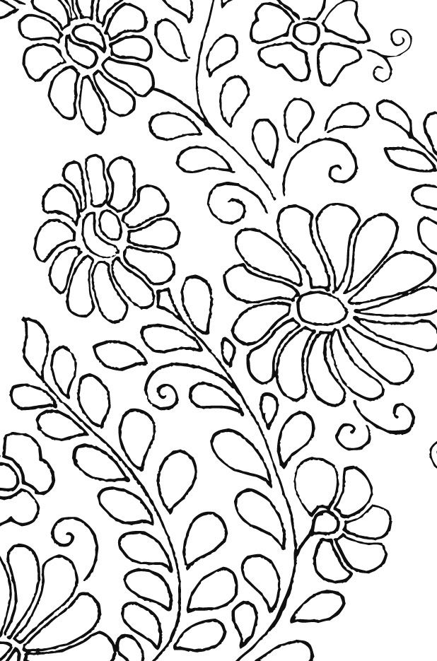 Siren Mexican Floral Yoke Embroidery Pattern | Embroidery patterns ...