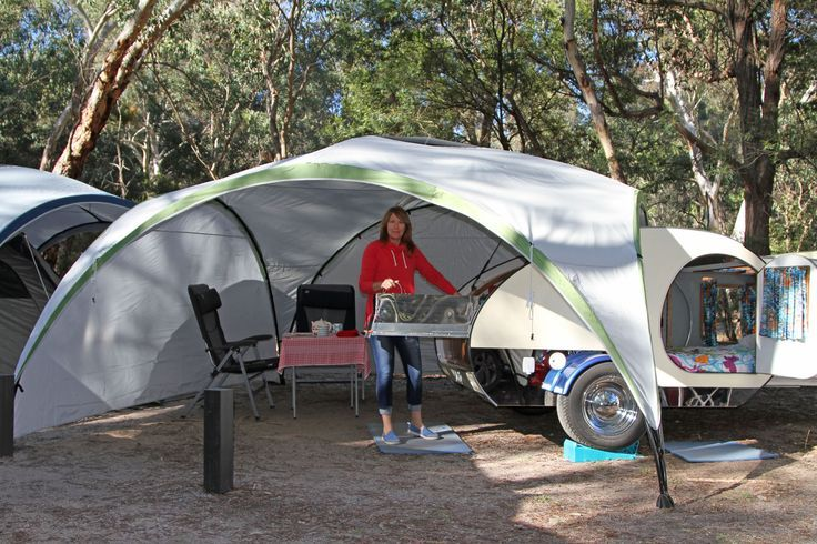 With Sides On The Gazebo We Can Add Extra Privacy And An Extra Room For Our Gidget  Retro Teardrop Camper. | Pinterest | Gidget Retro Teardrop Camper, ...