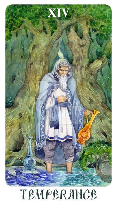 Xiv Temperance Balance Archangel Zadkiel: XIV. Temperance - Arcanum Tarot By Losenko