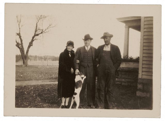 John Steuart Curry With His Family Dog Archives Of American Art