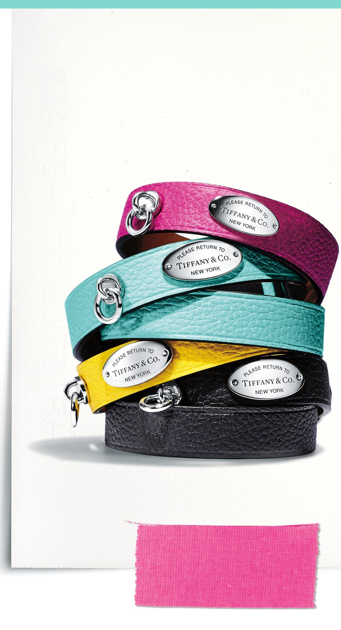 39d0c090a An iconic Return to Tiffany leather wrap bracelet makes a bold and colorful  statement. #ReturnToTiffany #ATiffanyHoliday #BelieveInDreams #TiffanyAndCo  # ...