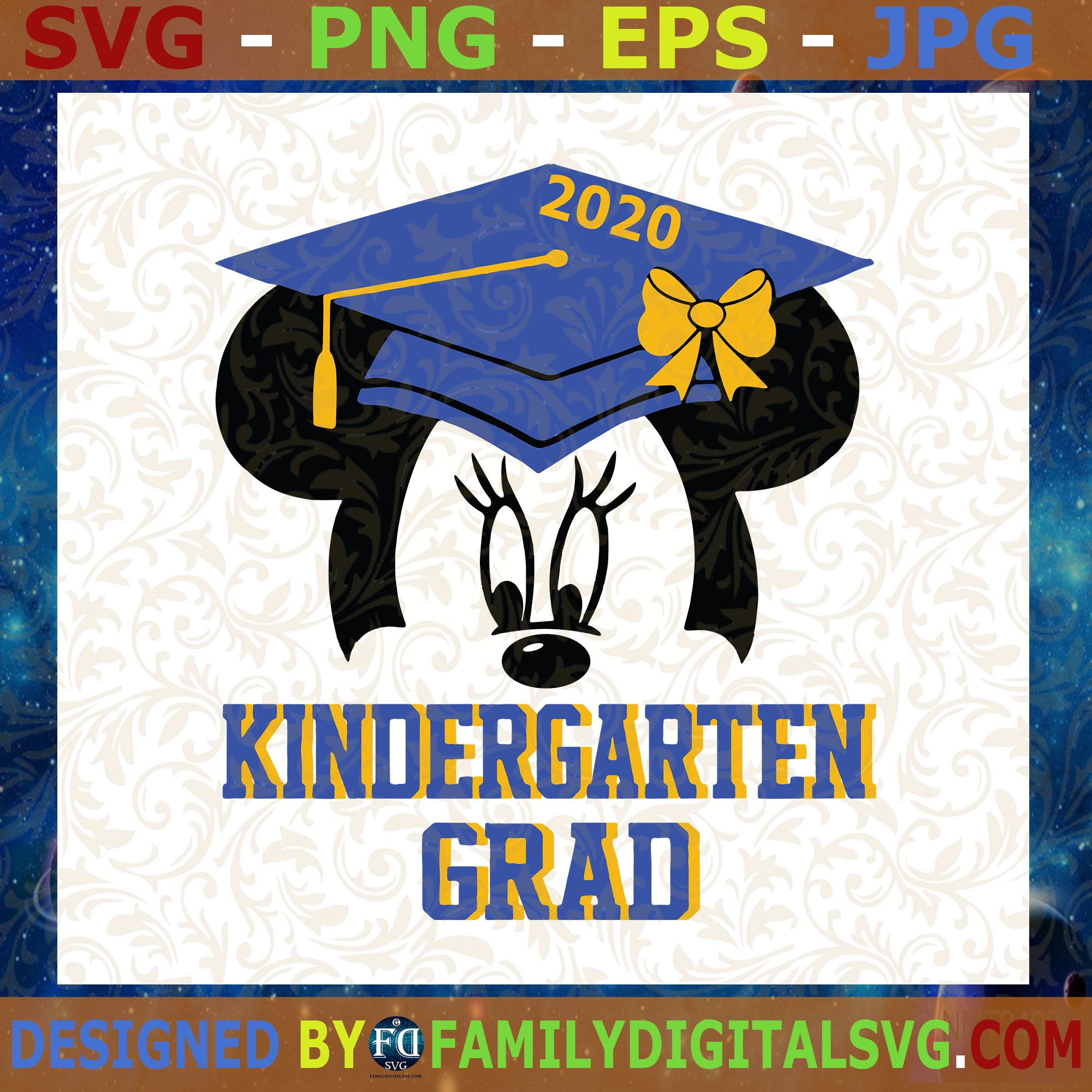 Kindergarten Graduation Minnie 2020 Mickey Mouse SVG