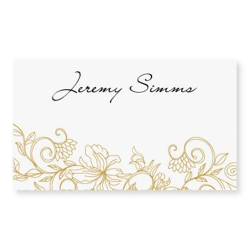 Wedding Place Card Template Instant Vintage Bouquet Gold Foldover Microsoft Word Format