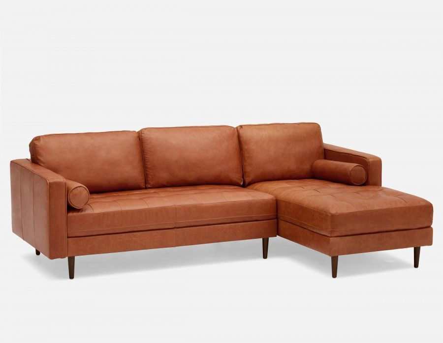Wondrous Kinsey 100 Leather Sectional Sofa Right Copper Machost Co Dining Chair Design Ideas Machostcouk