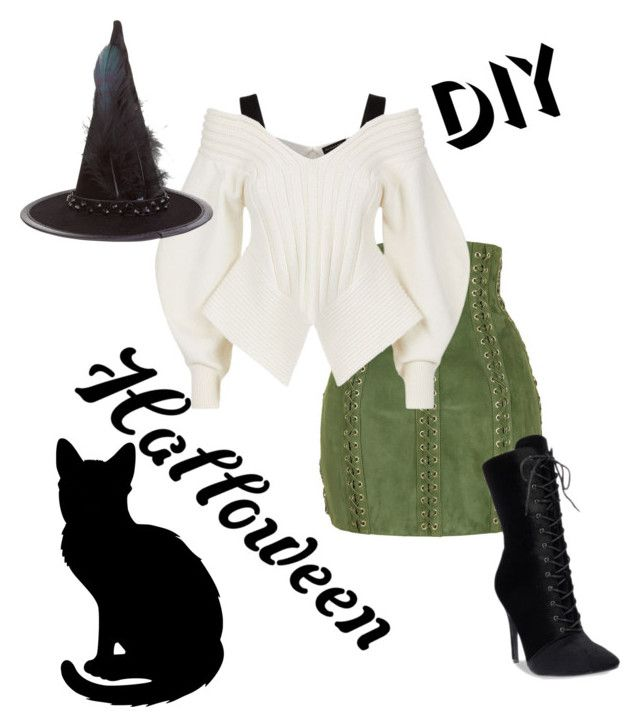 """Witch"" by olgaoskolova on Polyvore featuring Balmain, Burberry, Accessorize, halloweencostume and DIYHalloween"