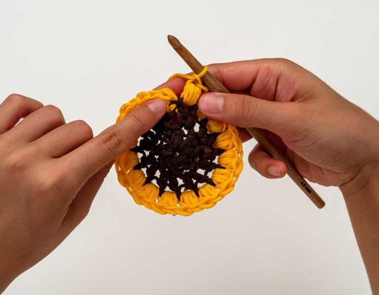 The Sunflower Blanket Crochet Pattern by BrennaAnn