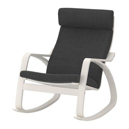 POÄNG Sedia a dondolo, bianco, Hillared antracite | Dondolo, Ikea e ...