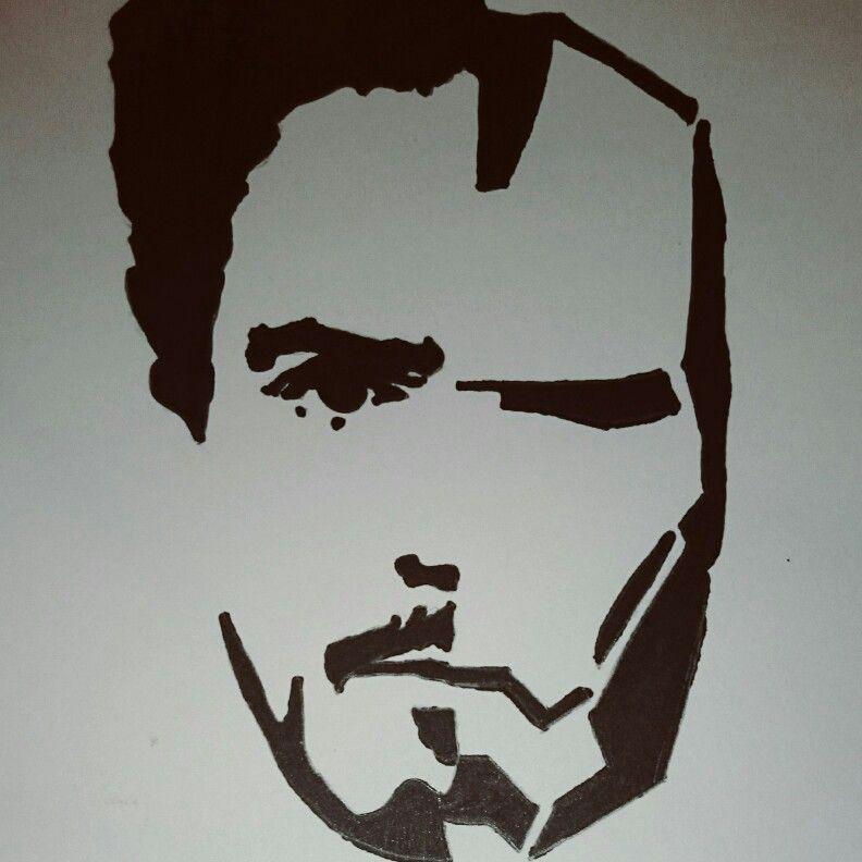 Très Iron Man and Tony stark Follow me on instagram @stencils_art Like  OT63