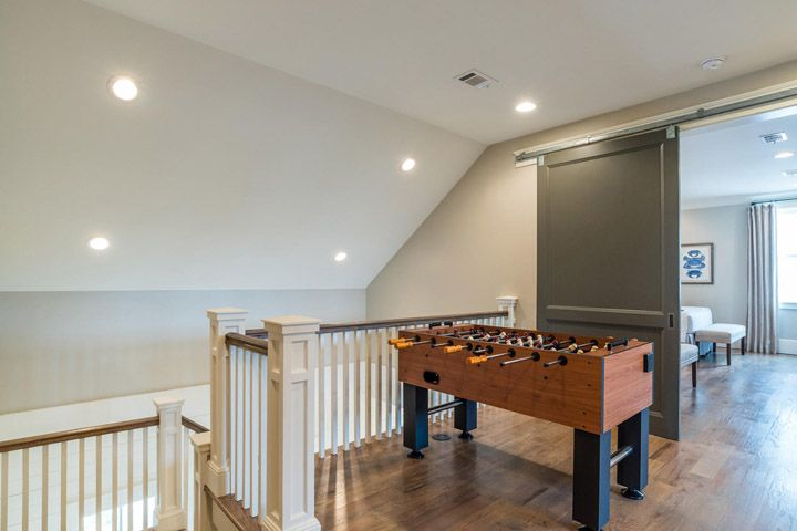 Nice place for a foosball table!