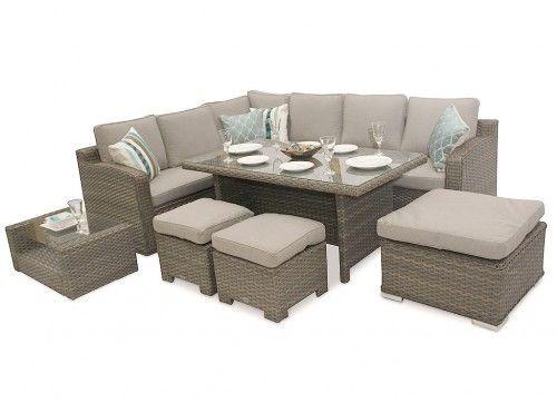 Corner Sofa High Back Rattan Furniture