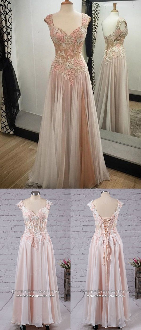 Pink formal dresses long modest prom dresses a line tulle