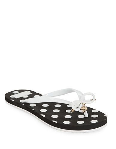349dc3331 Kate Spade New York Nova Polka Dotted Flip Flops Women s Black White 9