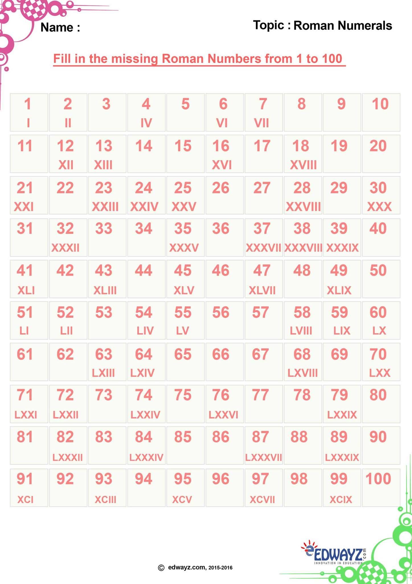 Edwayz Class 4 Worksheets Class 4 Maths Math