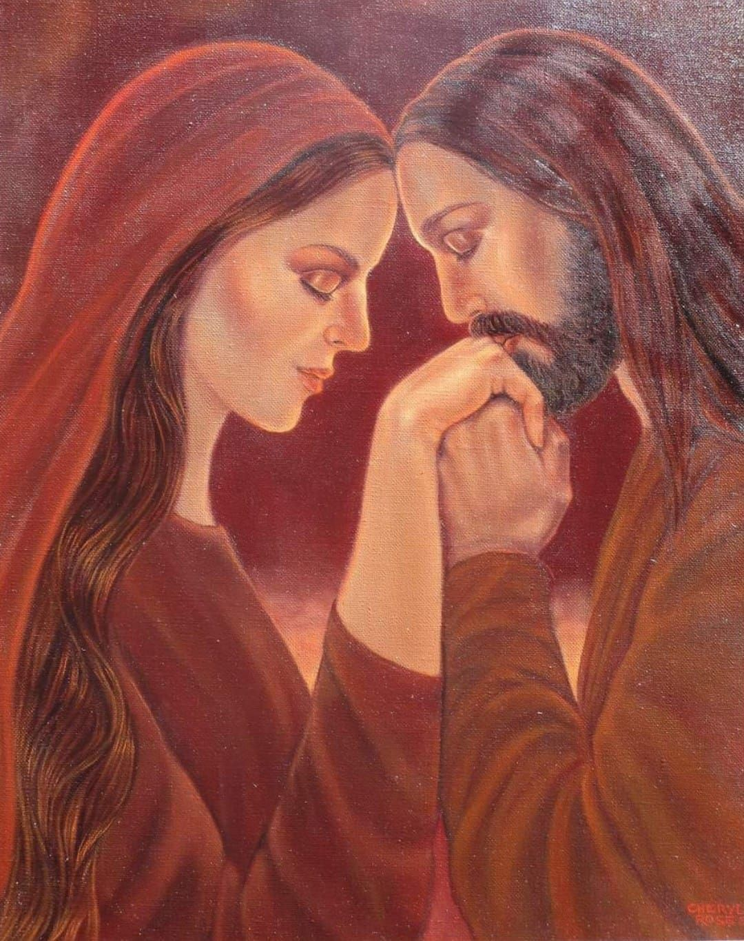 Pin de ॐ☮️☯️ Lucas Lima ☮️☯️ॐ em ❤️☯☮ॐ Amor e outras delicadezas ☯☮ॐ❤️    Jesus e maria, Divindades, Maria madalena