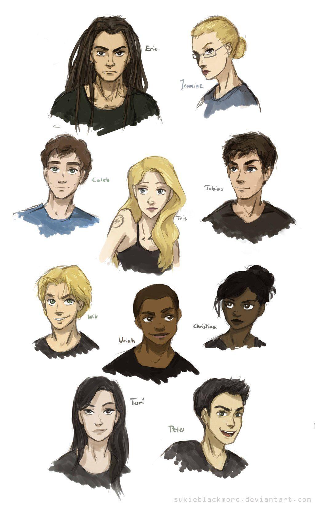 Characters Of Divergent By Sukieblackmoreiantart On @deviantart