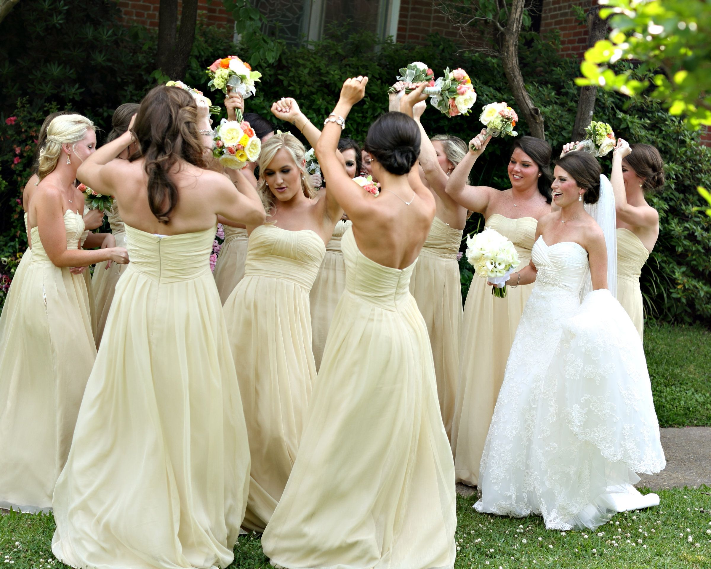 buttercup bridesmaids dresses pale yellow bridesmaids