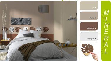 harmonie de peinture chambre couleur lin et gris avec une couette gris meringue plaid et tte de lit couleur ganache ambiance de couleurs zen propose par - Harmonie Des Couleurs Dans Une Maison