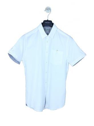 53704f7a8 Ted Baker Beaches S/S Oxford Shirt in white - Northern Threads | NEW ...