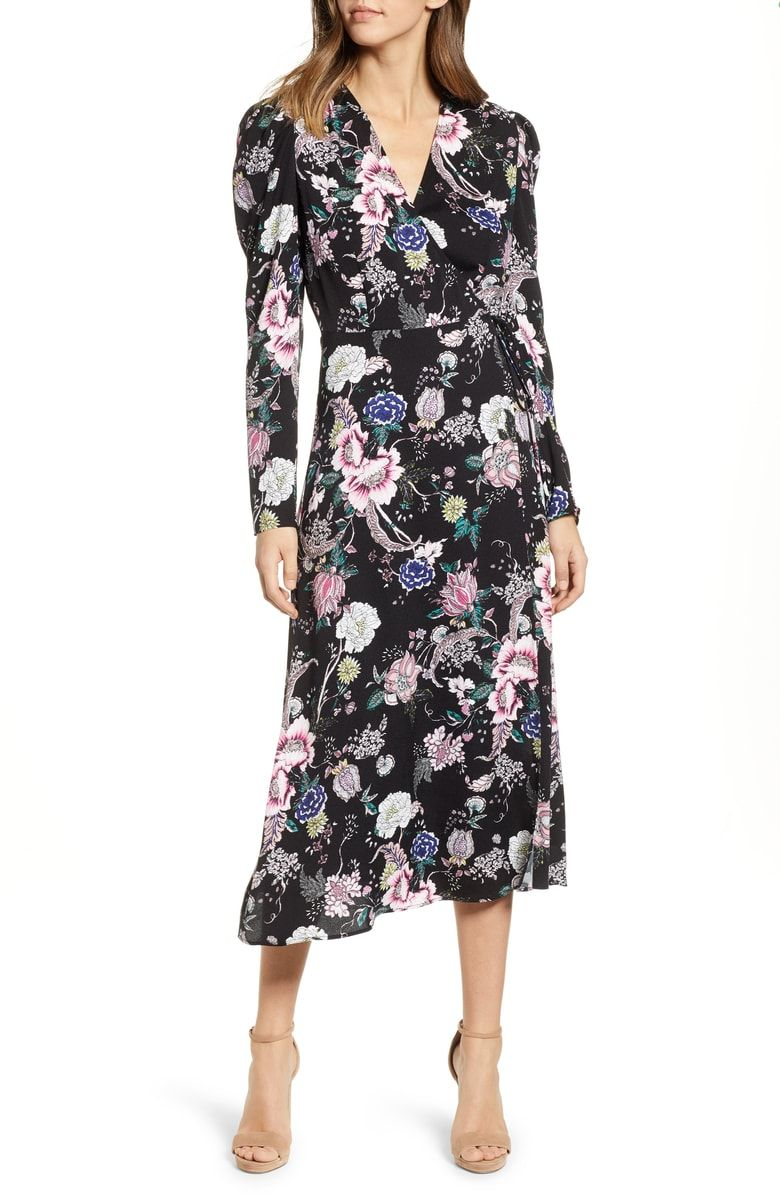 123880fb42199 Free shipping and returns on AFRM Caley Wrap Midi Dress at Nordstrom ...