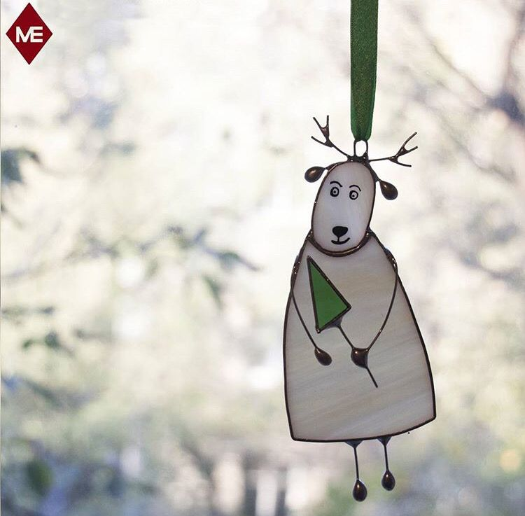 Stained glass Christmas ornament | Stained Glass | Pinterest | Glas