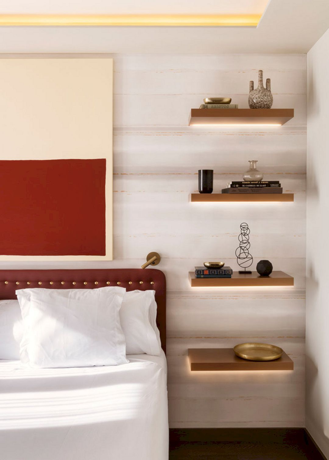 20 Top Hidden Shelving Design Ideas For Bedroom Shelves In
