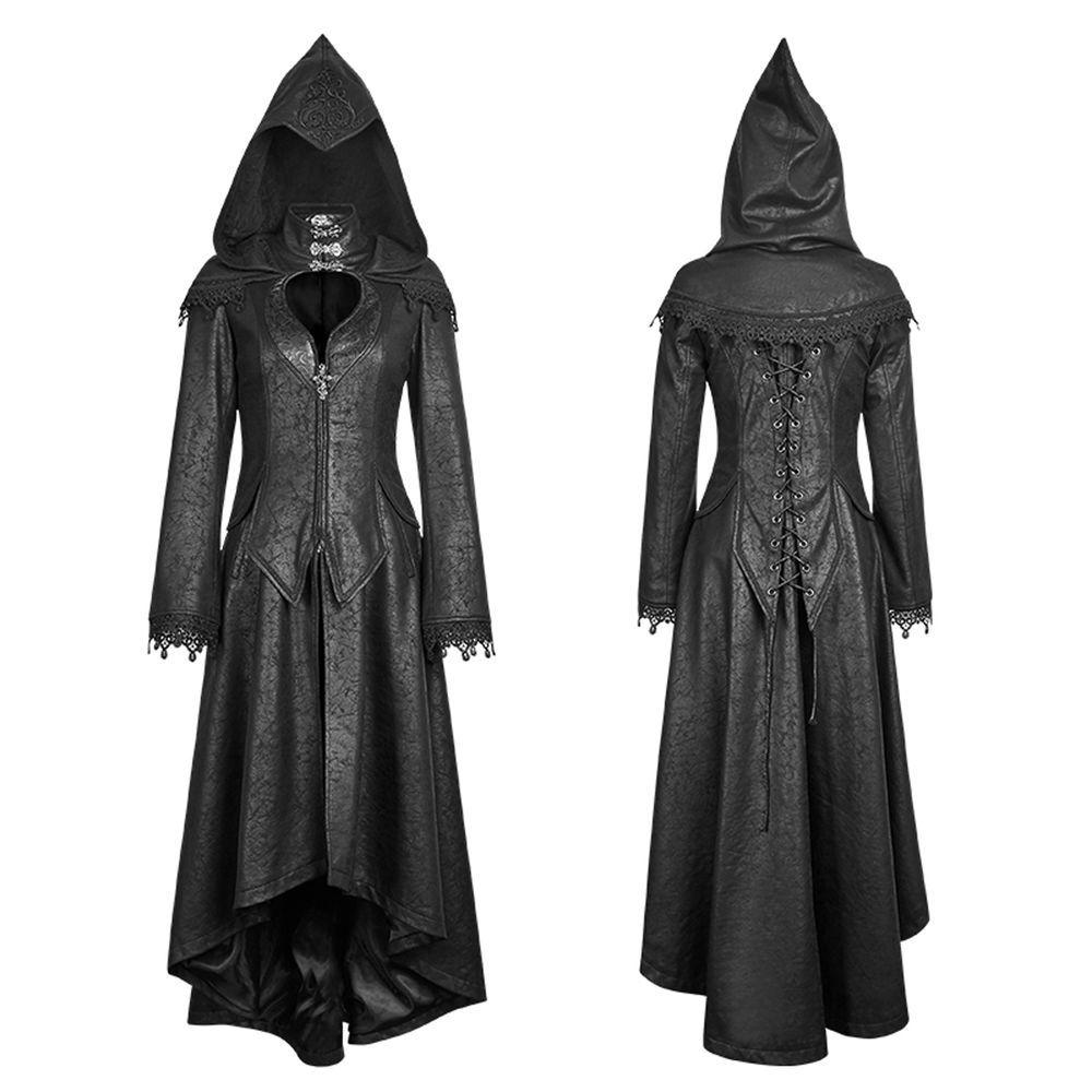 fb1728fcd56 Gothic Dark Angel Long Coat with Hood