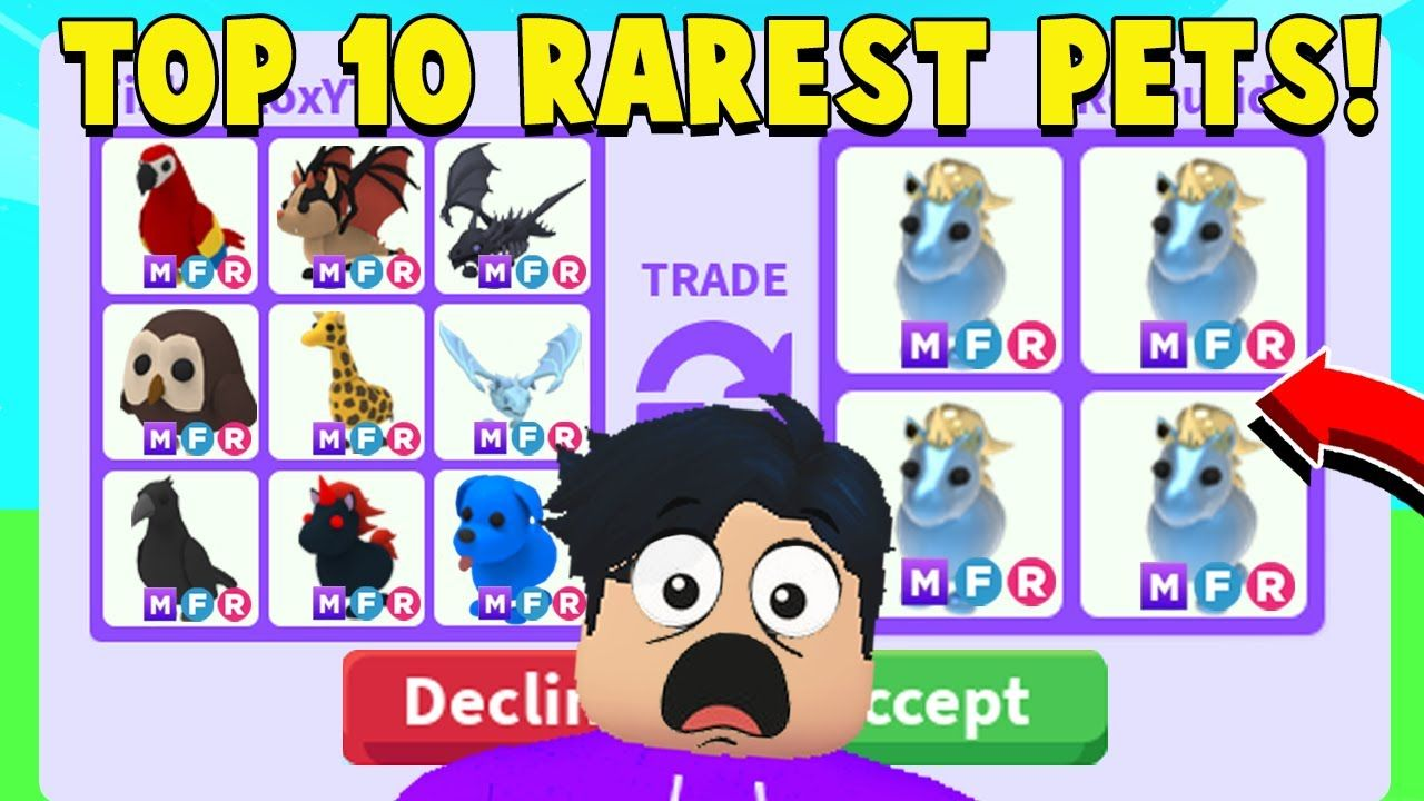 I Traded The 10 RAREST Pets In Adopt Me (BEST TRADES EVER