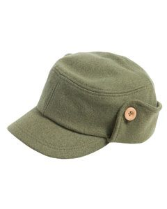 Cute and functional!  This Fidel Cap features - 100% wool - Convenient side flaps that can be let down or kept buttoned up - Unisex regular fit
