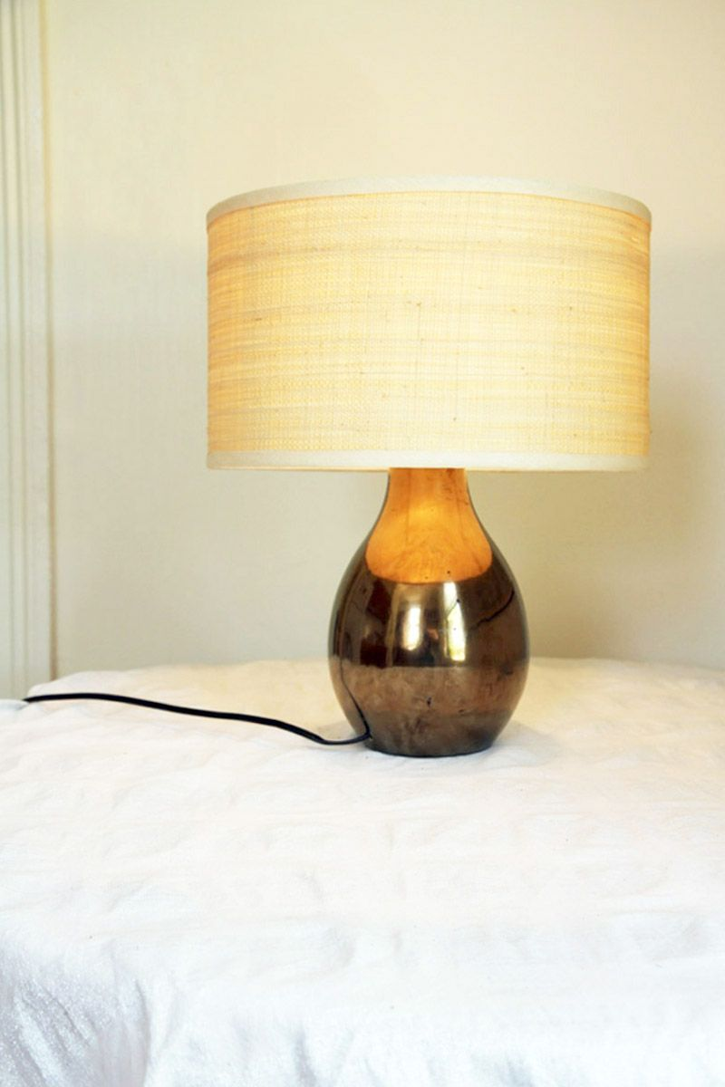Home Ec How To Rewire A Table Lamp Designsponge Diy Decor An Old