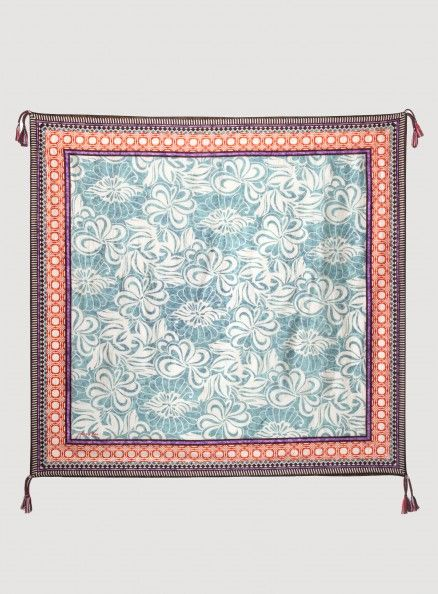 Johnny Was Signature Silk Lasso Print Scarf, $92.00 #hawaiian #floral #design #bohemian #accessory #pattern
