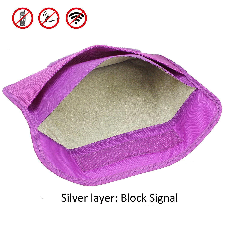 c0a44035d65a Amazon.com: Faraday Bag, Wisdompro RFID Signal Blocking Bag ...