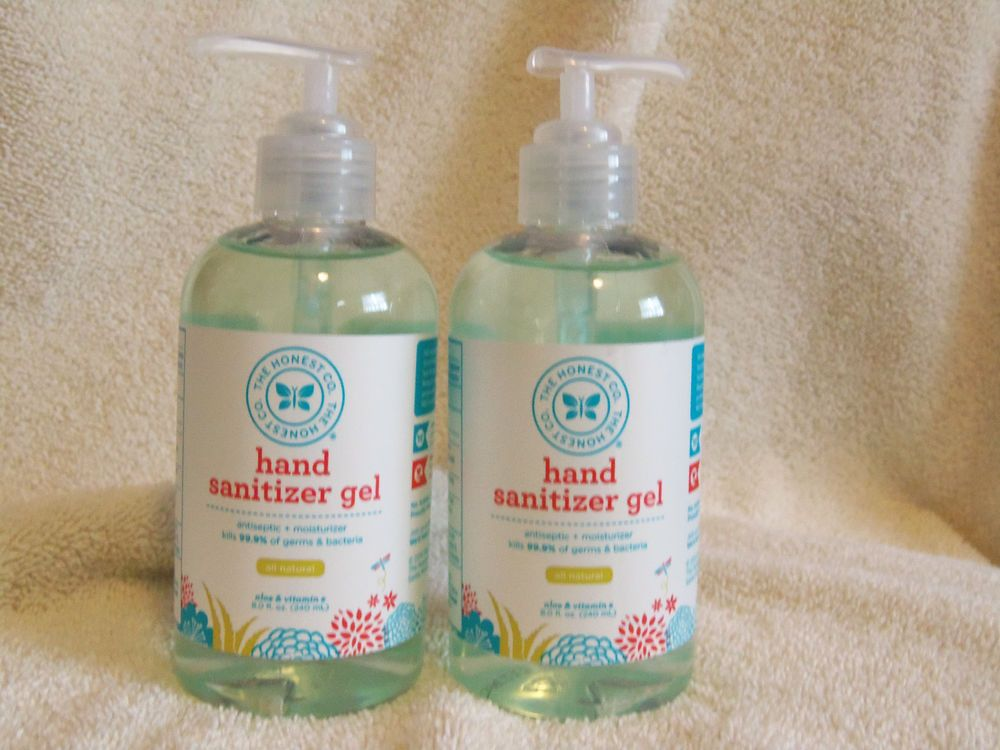 Honest Company Hand Sanitizer Gel Aloe Vitamin E 8 Fl Oz X 2 Exp