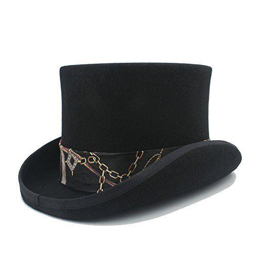 04c07447dab19 Battle Men Men s Magic Hats Wool MAD Hatter Top Felt Hat Women s Wedding  Bowler Hat Wide