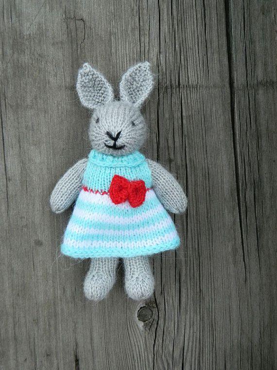 Giftfordaughter rabbit toys birthdaygiftforher kidstoys baby easter bunny hand knit toy easter rabbit hometoysbygalatova negle Gallery