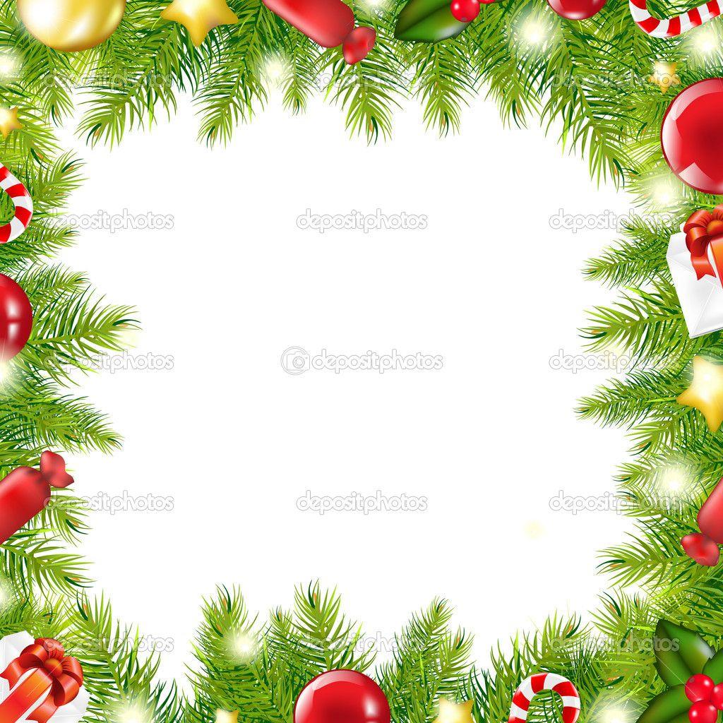 Christmas Tree Border Stock Vector C Barbaliss 7888745 Christmas Images Clip Art Christmas Tree Pictures Christmas Border