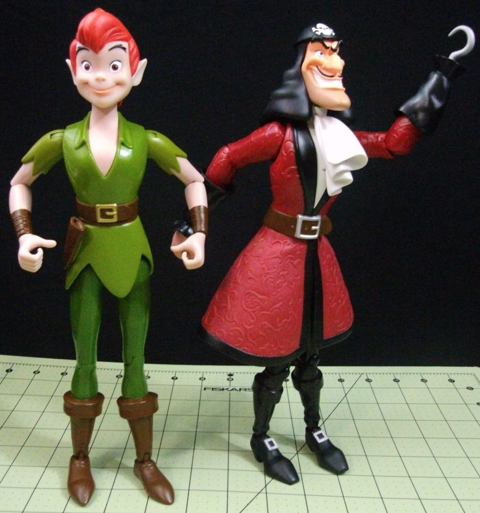 Disney Store Adventurers 12 Peter Pan Captain Hook Talking Figures Toys Dolls Captain Hook Disney Store Disney