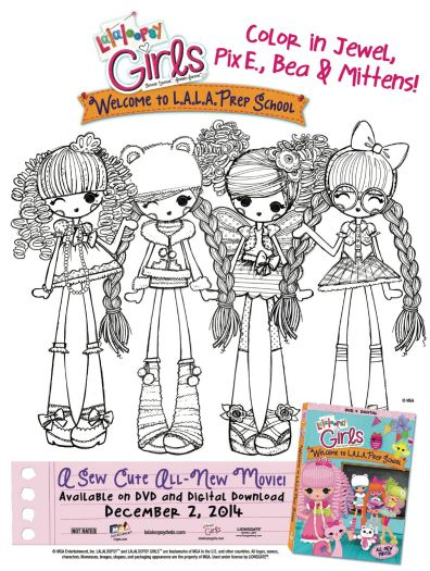 free printable lalaloopsy girls coloring page
