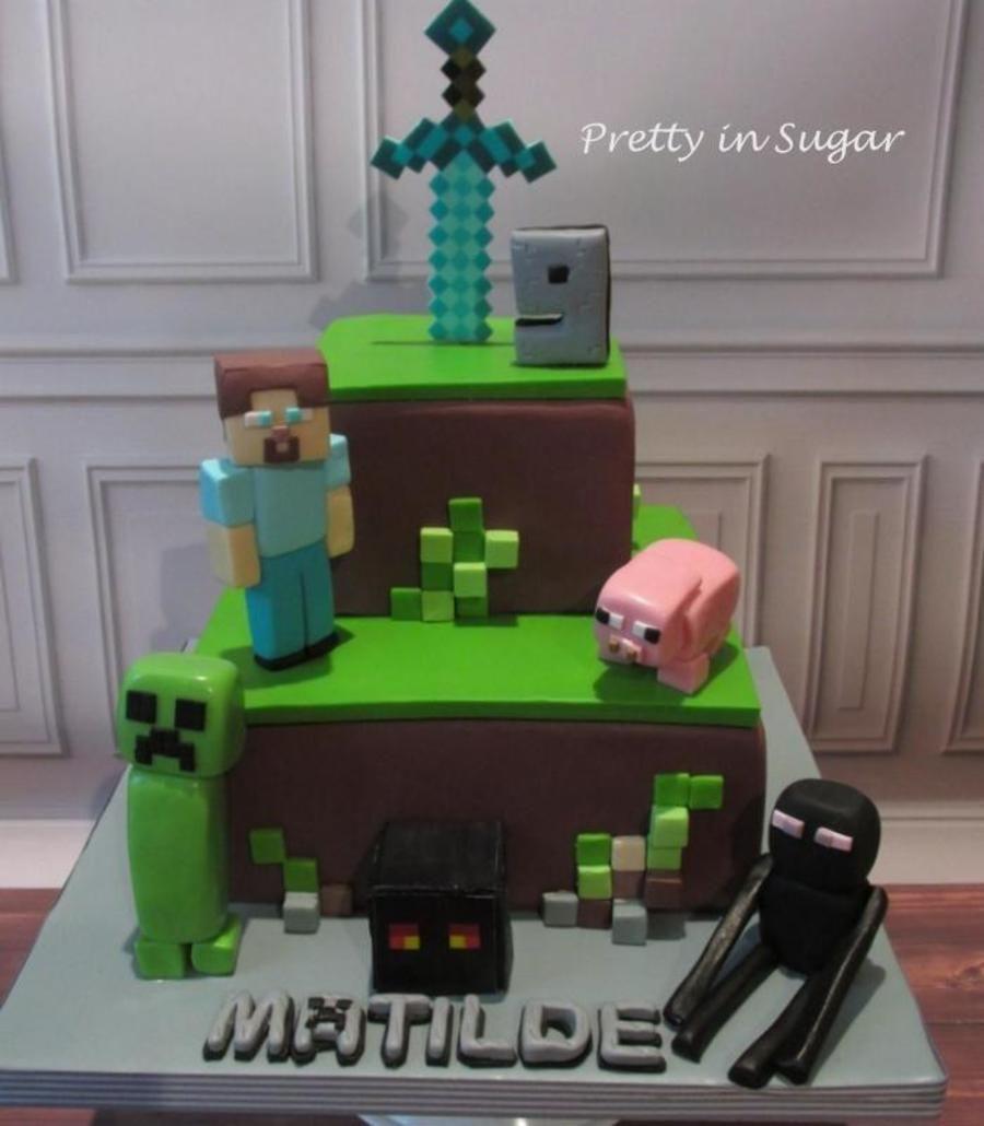 Minecraft Cake Minecraft Cakes In 2019 Minecraft Cake