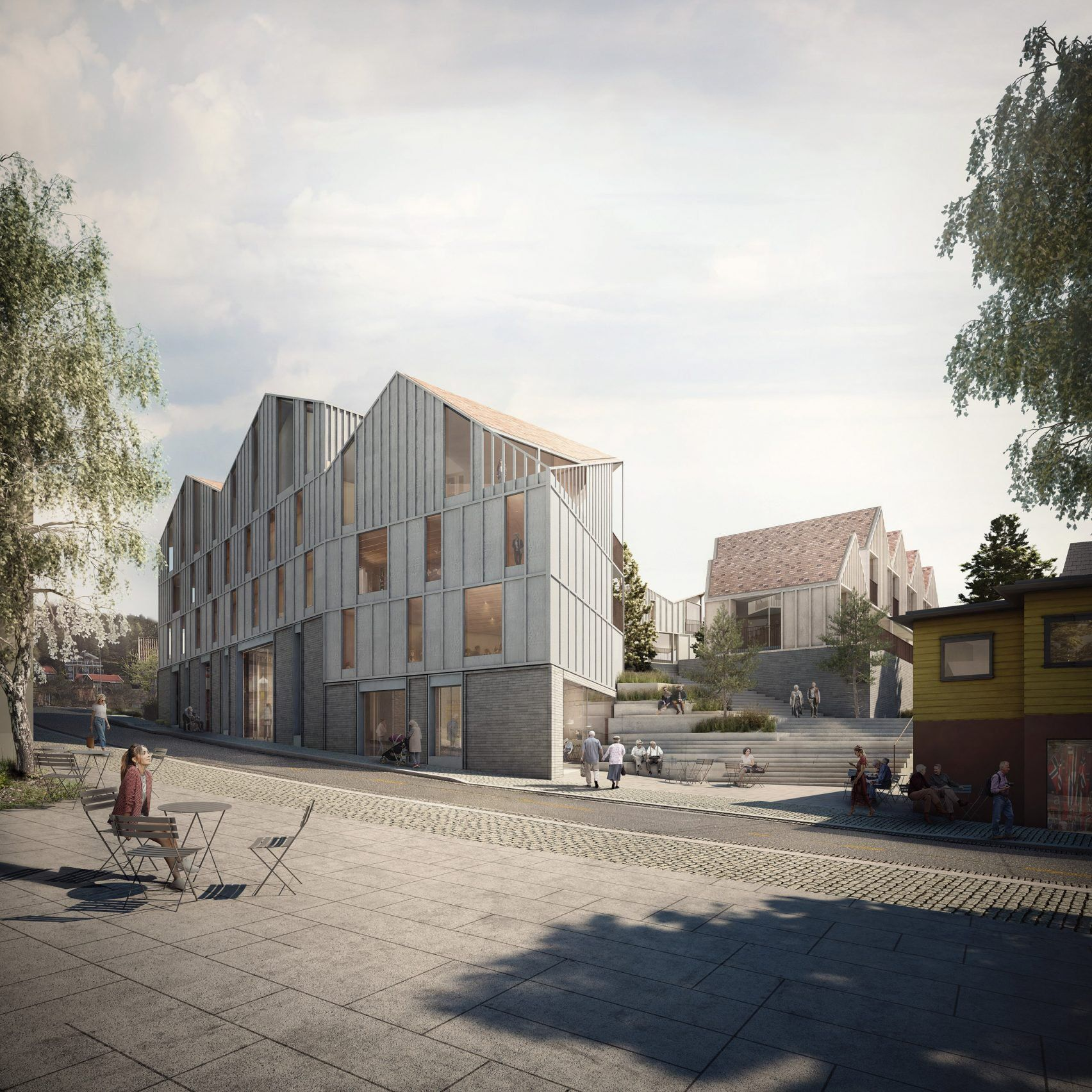 Haptic Designs Elderly Housing For Norway To Encourage Socialising Architecture Visualization Architecture Architecture Exterior
