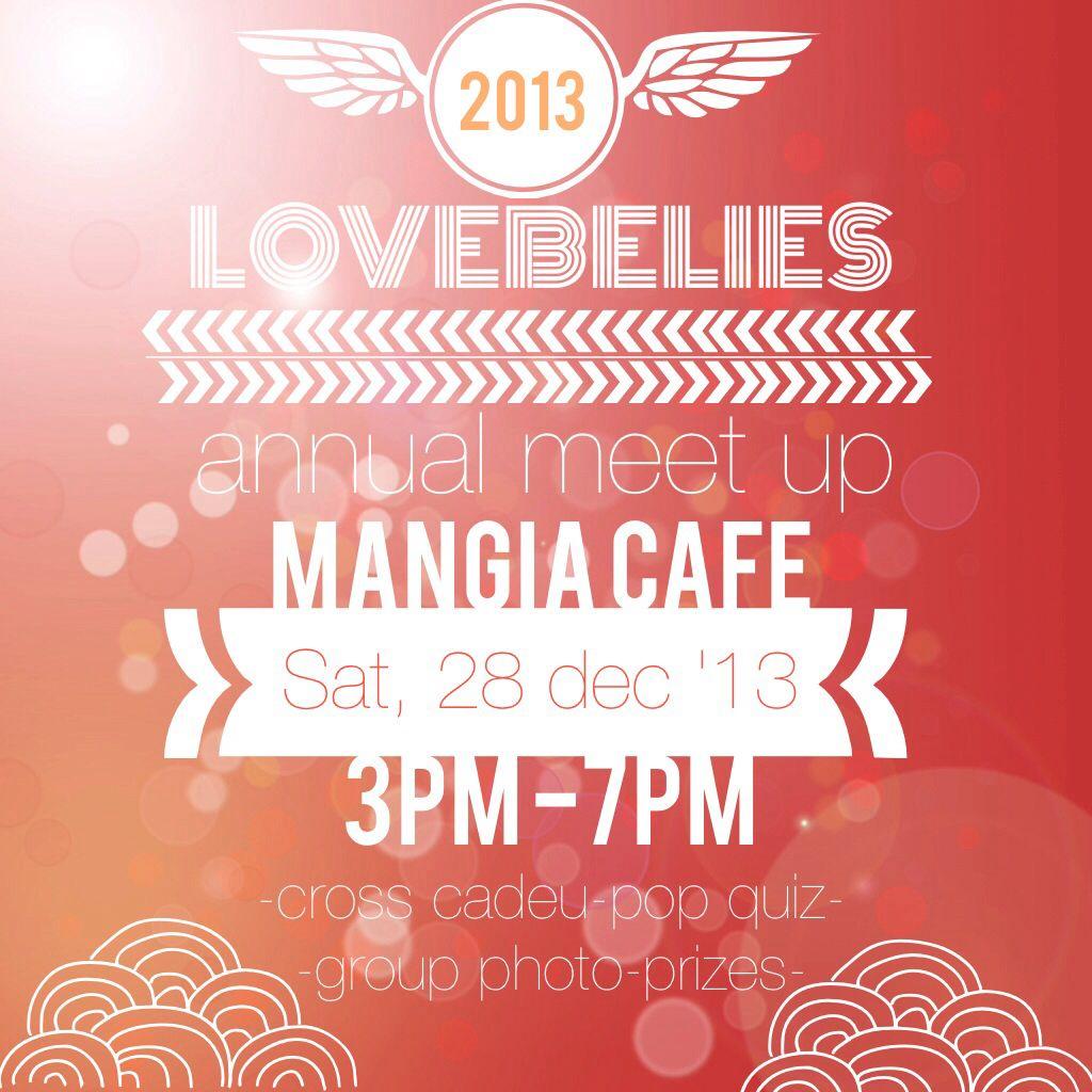 Invitation flyer for lovebelies. Made using Rhonna design