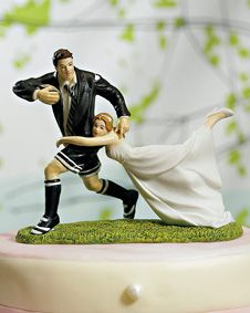 A Love Match Rugby Couple Figurine #CakeToppers #wedding #favor #bridal $31.99
