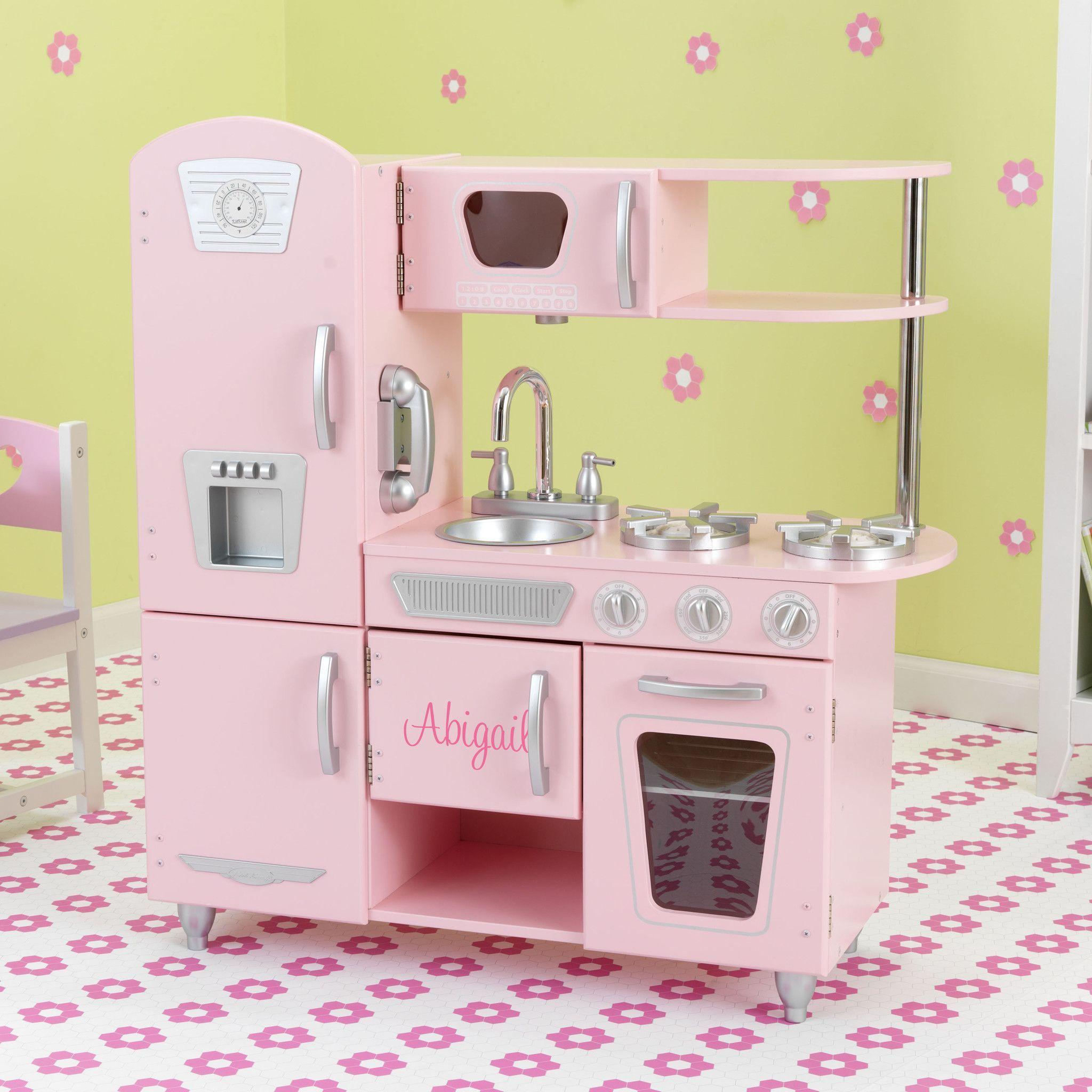 Kidkraft large pastel kitchen  Kid Kraft Pink Vintage Kitchen    Monster high birthday party