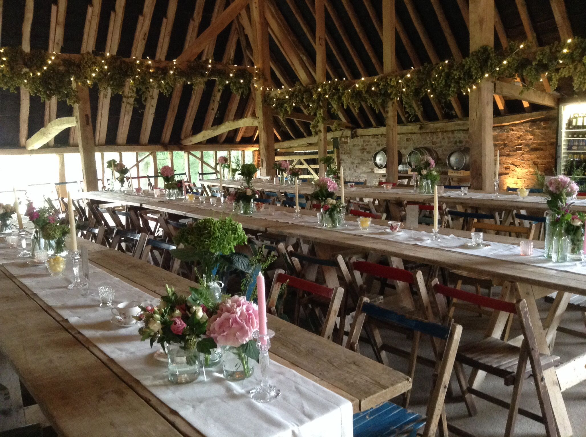 Traditional trestle tables and plenty of Harvey's beer for ...