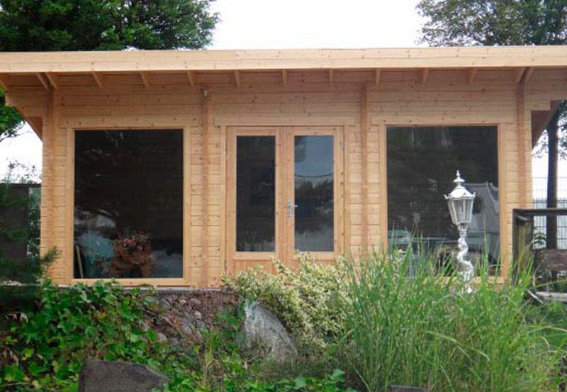 gartenhaus panorama jardim pinterest pultdach flachdach und gartenh user. Black Bedroom Furniture Sets. Home Design Ideas