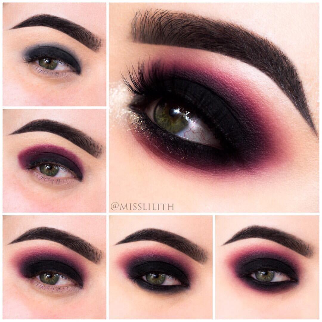 Photo of Smokey-øye trinnvis-illustrasjons #EyeMakeupColourful