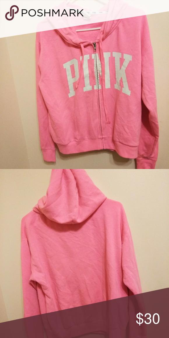 b069d2062fb53 Victoria's secret pink full zip hoodie In great condition, no holes ...